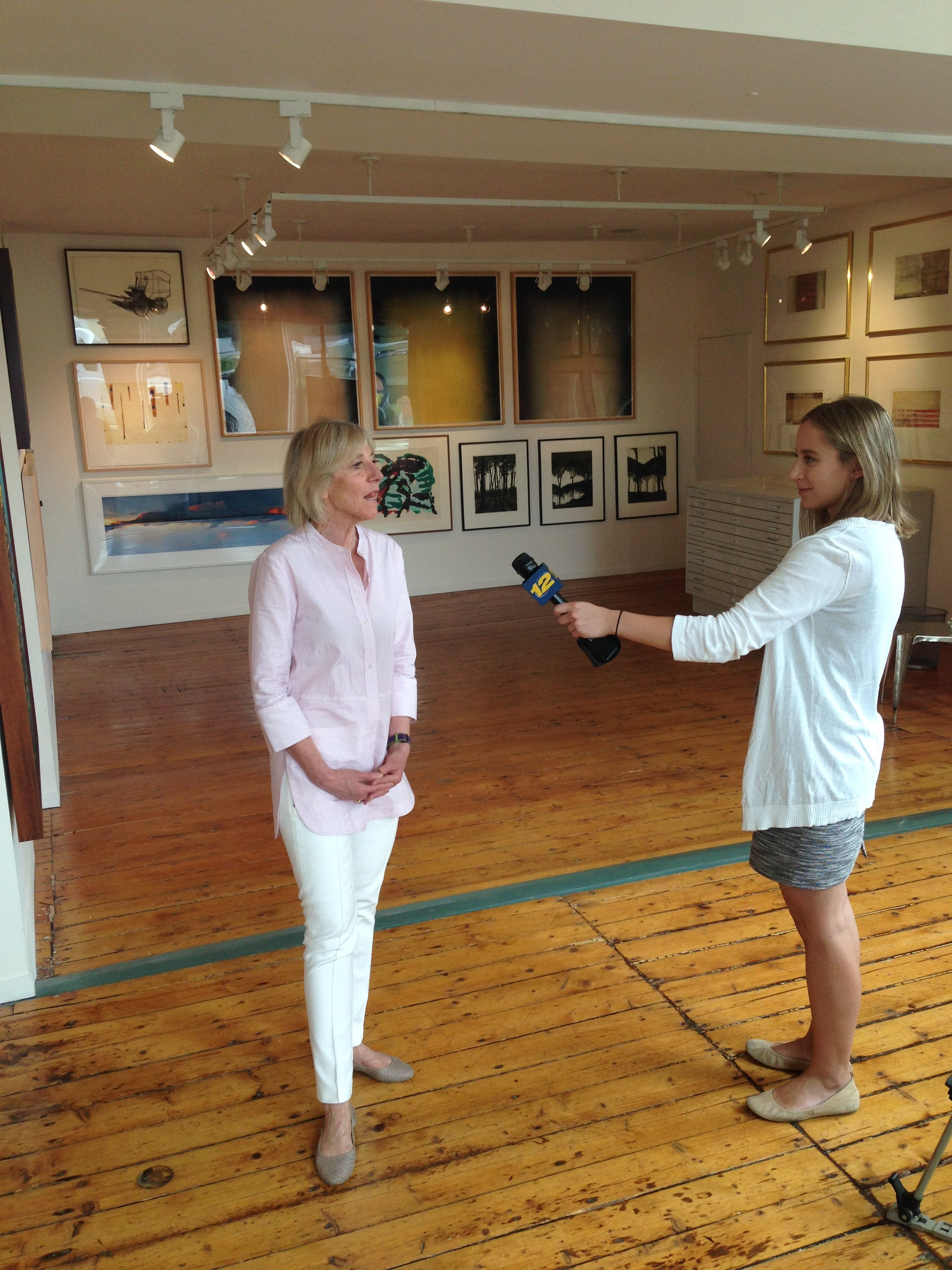 Pop Up Show! The GE Art Collection on Channel 12 News